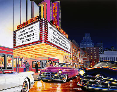 50s Photograph - Esquire Theater by Bruce Kaiser