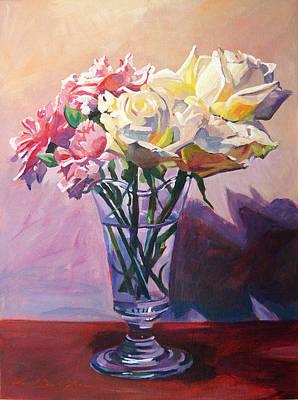 Essence Of Rose Art Print by David Lloyd Glover
