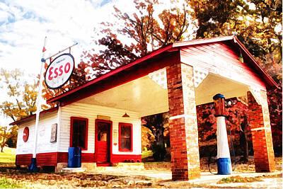 Esso Filling Station Art Print by Lynne Jenkins