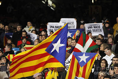 Photograph - Estelada In Catalonia National Team Match by Agusti Pardo Rossello
