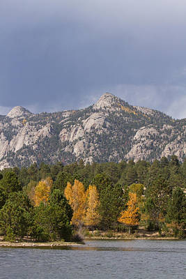 Estes Park Autumn Lake View Vertical Art Print by James BO  Insogna