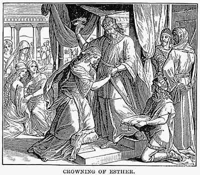 Queen Esther Photograph - Esther & Ahasuerus by Granger