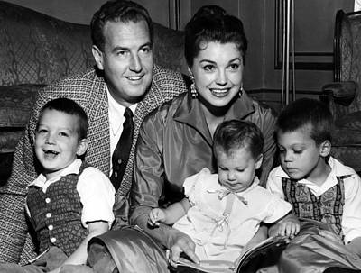 Earrings Photograph - Esther Williams Top Right, And Family by Everett