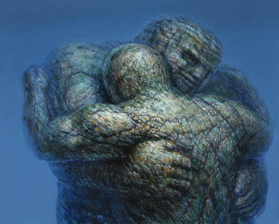 Painting - Eternal Embrace by De Es Schwertberger