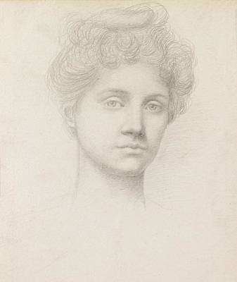 Ethel Pickering Art Print by Evelyn De Morgan
