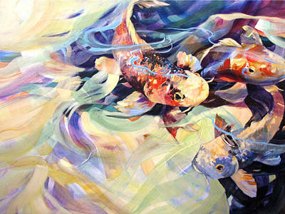 Art Print featuring the painting Ethereal Koi 2 by Rae Andrews