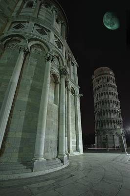 Medieval Temple Photograph - Ethereal Moonlight Scene Of Duomo Santa by Carson Ganci