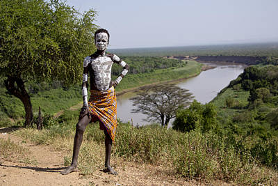 Painting - Ethiopia-south Boy Of The River by Robert SORENSEN