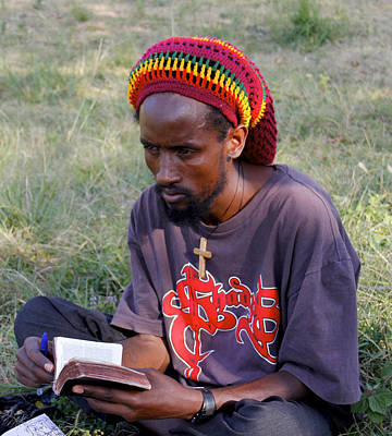 Painting - Ethiopia-south Orthodox Christian Man by Robert SORENSEN