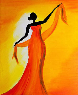 Titanium White Painting - Ethnic Dancer - 1 by Radhika Devaraj