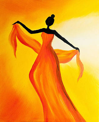 Titanium White Painting - Ethnic Dancer - 2 by Radhika Devaraj
