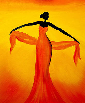 Titanium White Painting - Ethnic Dancer - 3 by Radhika Devaraj