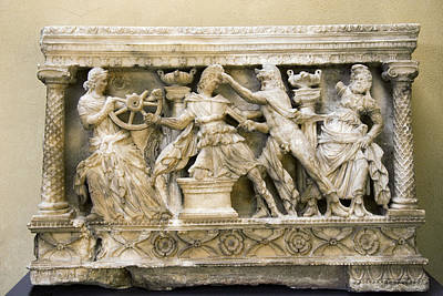 Etruscan Carving, 2nd Century Bc Art Print