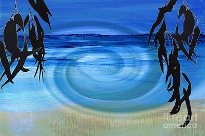 Eucalyptus Ocean View Art Print