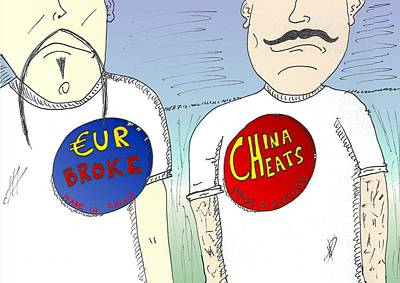 Financial Mixed Media - Eur Broke And China Cheats by OptionsClick BlogArt