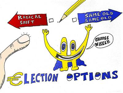 Financial Mixed Media - Eur Election Options by OptionsClick BlogArt