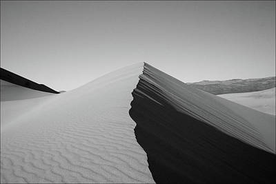 Great White Death Photograph - Eureka Dunes, Death Valley National Park by Gary Koutsoubis