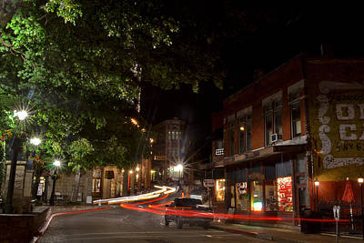 Jeka World Photograph - Eureka Springs Light Trails by Jeff Rose
