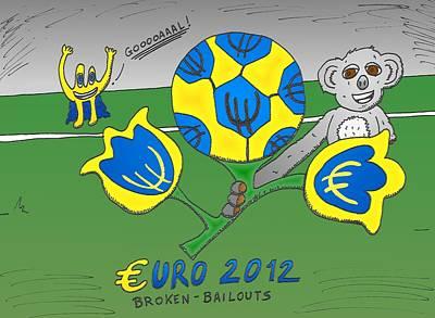 Financial Mixed Media - Euro 2012 Binary Options News Cartoon by OptionsClick BlogArt
