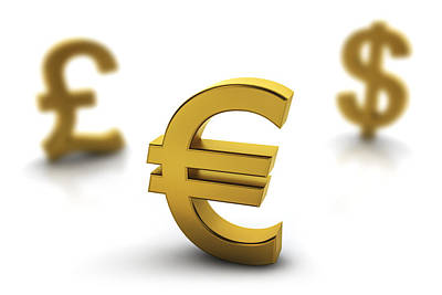Focus On Foreground Digital Art - Euro Currency Symbol In Focus by Bjorn Holland