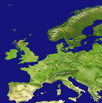 Europe, Satellite Image Print by Nasa