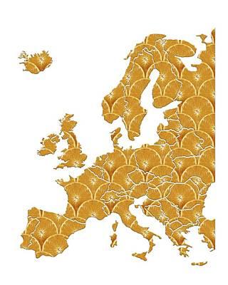 European Diet, Conceptual Artwork Art Print by Victor Habbick Visions