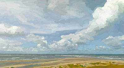 Holland Painting - Europoort Beach by Nop Briex
