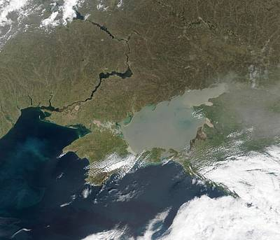 True Color Photograph - Eutrophication In The Sea Of Azov by NASA / Science Source