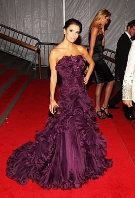 Eva Longoria Wearing A Marchesa Gown Art Print