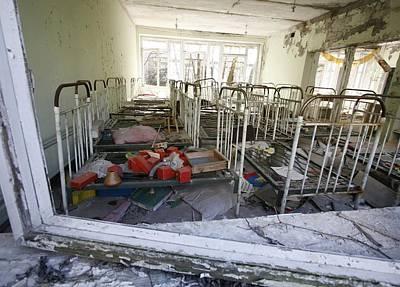 Evacuated Kindergarten Near Chernobyl Art Print by Ria Novosti