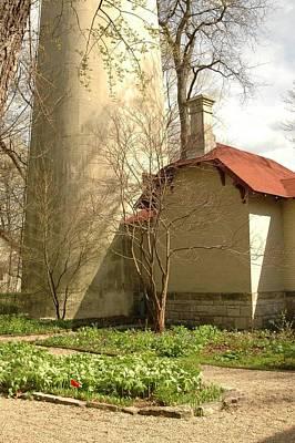 Evanston Illinois Lighthouse In Spring Art Print by Jennifer Holcombe