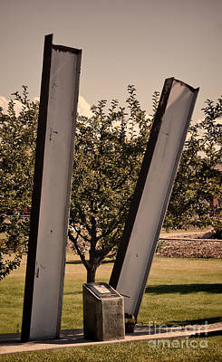 11th Green Photograph - Evanston Wyoming 911 Memorial by Donna Greene