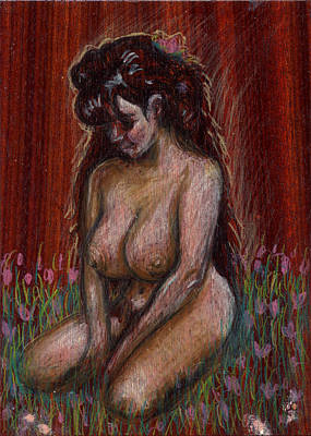 Eve In Her Garden Art Print by Mani Price