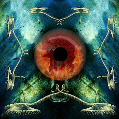 Eve S Eye Art Print by Rosa Cobos