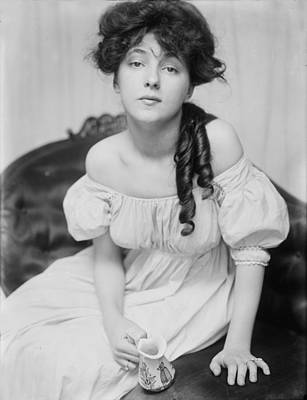 Evelyn Nesbit, Chorus Girl And Model Art Print