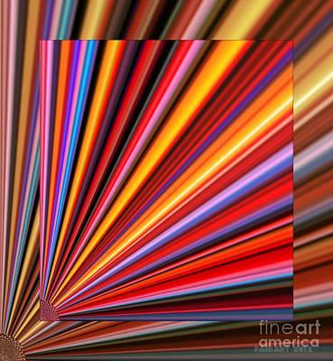 Action Lines Digital Art - Even Lines Get Colorful by Fania Simon