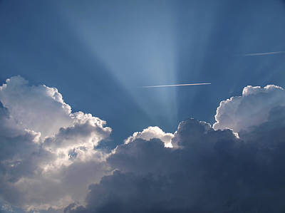 Even Through The Clouds You Will Find A Ray Of Sunshine Art Print