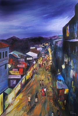 Painting - Evening At Joshimath by Parag Pendharkar