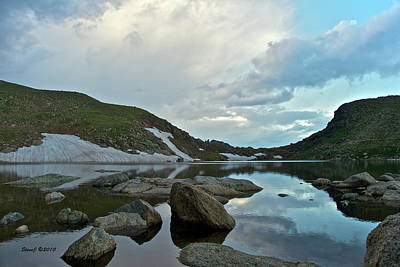 Art Print featuring the photograph Evening At Summit Lake by Stephen  Johnson
