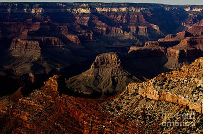 Photograph - Evening At The Grand Canyon by Royce  Gideon