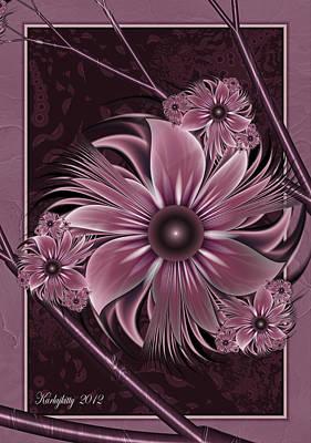 Digital Art - Evening Blush by Karla White
