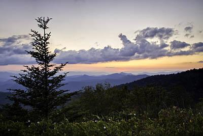 Evening Falls On The Blue Ridge Art Print by Rob Travis