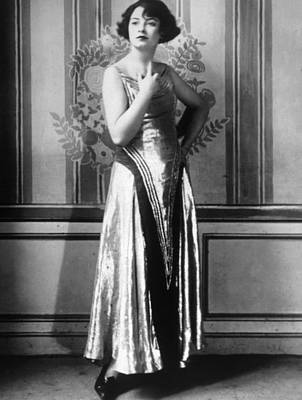 Evening Gown Photograph - Evening Gown Of Gold Cloth Designed by Everett