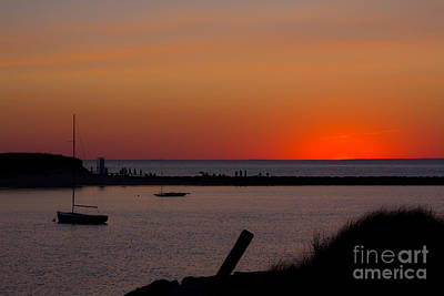 Evening Harbor Silhouette Art Print by Douglas Armstrong