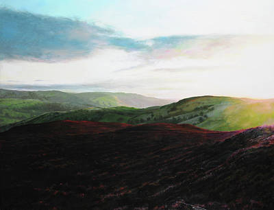 Gleam Painting - Evening Landscape Towards Llangollen by Harry Robertson