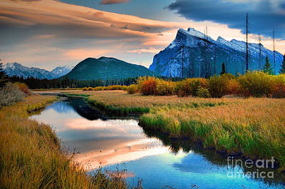 Photograph - Evening Light And Autumn In Banff by Tara Turner