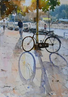 Cycles Painting - Evening Light by Vinayak Deshmukh