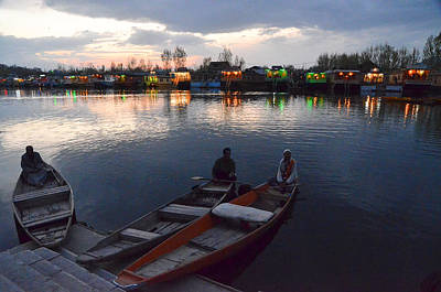 Evening On Dal Lake Art Print