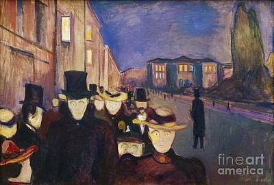 Painting - Evening On Karl Johan by Pg Reproductions