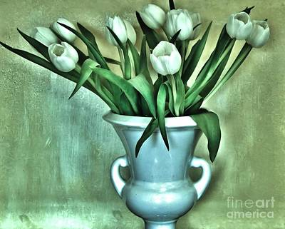 Evening Party Tulips Art Print by Marsha Heiken